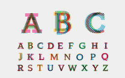 Alphabetic fonts Stock Photo