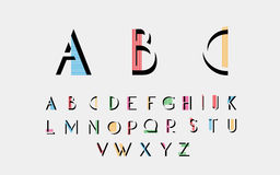 Alphabetic fonts Royalty Free Stock Photography