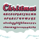 Alphabetic fonts and numbers for Christmas Stock Images