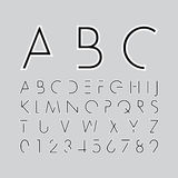 Alphabetic fonts and numbers Stock Images