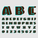 Alphabetic fonts and numbers Royalty Free Stock Images