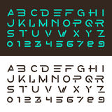Alphabetic fonts and numbers vector illustration