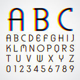Alphabetic fonts and numbers Stock Image
