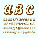 Alphabetic fonts and numbers Royalty Free Stock Photos