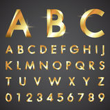 Alphabetic fonts and numbers Royalty Free Stock Photo