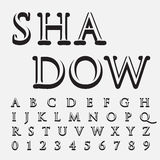 Alphabetic fonts and numbers Royalty Free Stock Photography