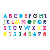 Alphabetic fonts and numbers Stock Photography