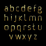 Alphabetic gold fonts Royalty Free Stock Images