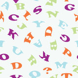 The alphabetic pattern Royalty Free Stock Image
