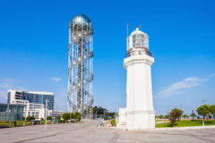 Alphabetic Tower, Batumi stock images