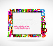 Alphabetical background Royalty Free Stock Images