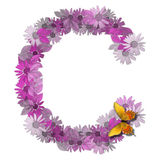 Alphabetical letter consonant C Royalty Free Stock Images