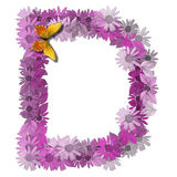 Alphabetical letter consonant D Royalty Free Stock Photos