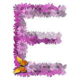 Alphabetical letter vowel E Royalty Free Stock Image