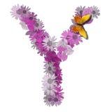 Alphabetical letter vowel Y Stock Image