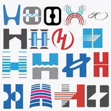Alphabetical Logo Design Concepts. Letter H. Set of Alphabetical Logo Design Concepts. Letter H. Here you find your Business Logo Royalty Free Stock Images