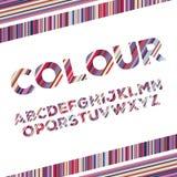 Alphabetical . Vector illustration. English alphabets with colorful stripes . Vector illustration Royalty Free Stock Image