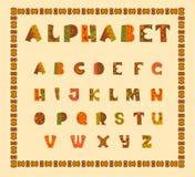 Alphabetisch in der ethnischen afrikanischen Entscheidung Stockfotografie