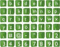 alphabetische Zeichen 3D auf Würfel (kleine Buchstaben) Lizenzfreies Stockfoto