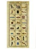 Alphabetischer Papyrus Stockbild