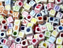 Alphabetisches Zeichen-Blöcke Stockbilder