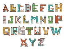 Alphabetkarikaturhaus Stockfotografie