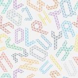 Alphabetmuster Lizenzfreies Stockbild