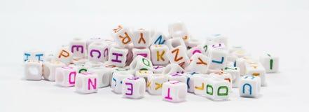 Alphabetperlen Lizenzfreies Stockfoto