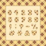 Alphabetplaid-Musterentwurf Zahlen und Interpunktionszeichen ENV 10 stock abbildung