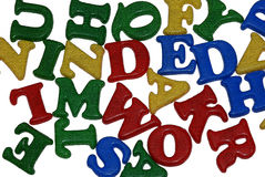 Alphabets. Are assembled with plastic letters. This is not written by using different font Stock Photo