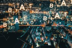 Alphabets with aerial view of Tokyo, Japan Royalty Free Stock Photos