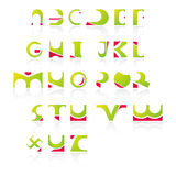 Alphabets as icons_01. Latin Alphabets in English from A to Z Stock Image