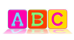 The alphabets A, B, C. Isolated on white Stock Images