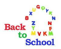 Alphabets and Back to School Royalty Free Stock Image
