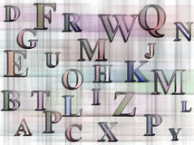 Alphabets background Stock Photo