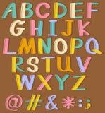 Alphabets. Banner of English alphabets A to Z Stock Photos
