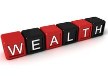 Alphabets block of wealth Stock Photo