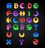 Alphabets colorés de gelée pour des enfants illustration de vecteur