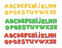 Alphabets d'écriture Vecteur tiré par la main Images libres de droits