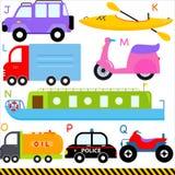 Alphabets d'A-Z : Véhicule/véhicules/transport Photographie stock libre de droits