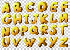 Alphabets dans la couleur jaune Photos libres de droits