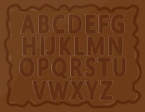 Alphabets de chocolat Photo stock