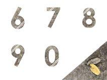 Alphabets de nombre Photo libre de droits