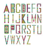 ALPHABETS. Designer Letters and fonts with vibrant colors Stock Photography