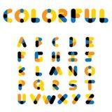 Alphabets et lettres colorés de vecteur dans le haut de casse Images libres de droits