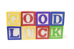 Alphabets - Good Luck Royalty Free Stock Photography