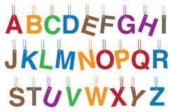 Alphabets Hanging Accessories Vector Illustration Royalty Free Stock Photo