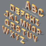 Alphabets isométriques illustration stock