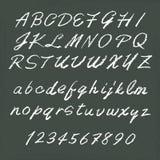 Alphabets manuscrits Photo libre de droits