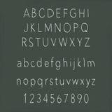 Alphabets manuscrits Image stock